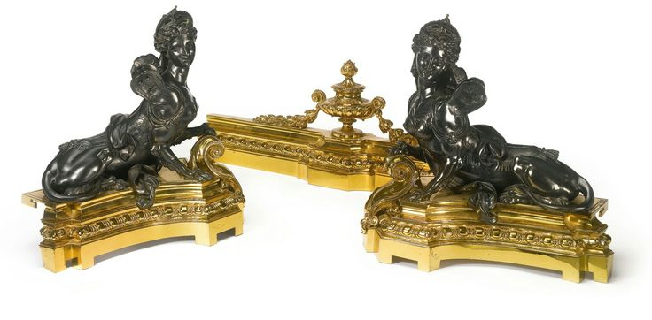 A Louis XVI style gilt and patinated bronze fender France, early 20th century.