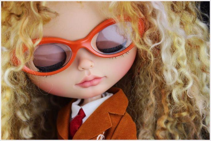 OOAK Custom Blythe doll Tanned Skin. by Thehandflower #Dolls