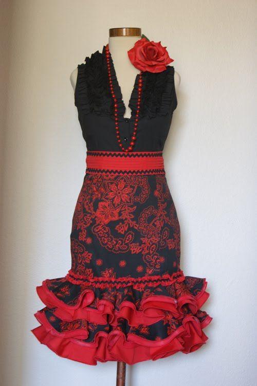 Falda+Alta+Corta+Roja+y+Negra.jpg 500×751 pixels