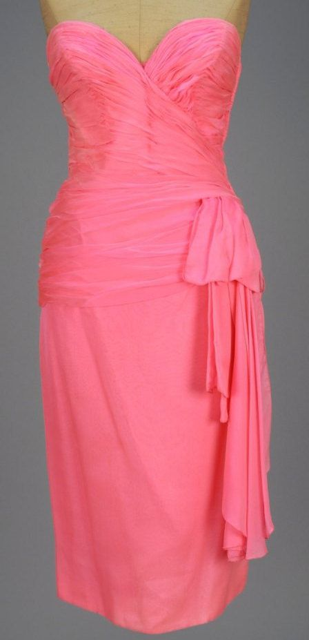BLACK FRIDAY SALE Pink Sheath Dress Vicky Tiel Paris Dress Chiffon Silk Dress Cocktail Party Dress 1950s Dress Party dress Prom dress 1950s dress Flapper Sexy dress Dresses pink strapless dress christmas dress sheatsh dress silk dress Women's Clothing pink silk dress BLACK FRIDAY 1749.00 USD #goriani