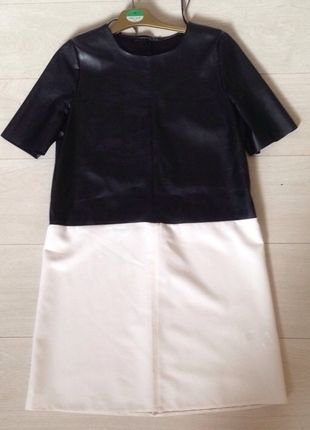 Buy here at #vinteduk http://www.vinted.co.uk/womens-clothing/party-and-cocktail-dresses/4407371-pannelled-leather-dress-from-primark