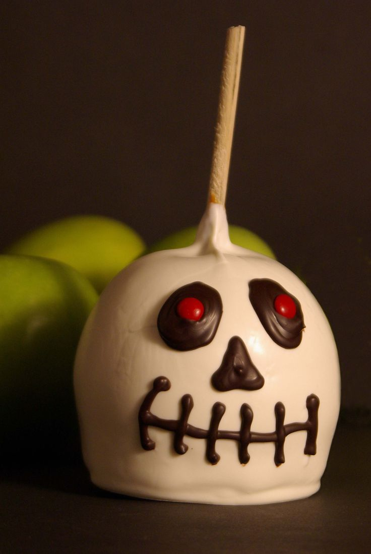 Nightmare Before Christmas Chocolate Caramel Apple