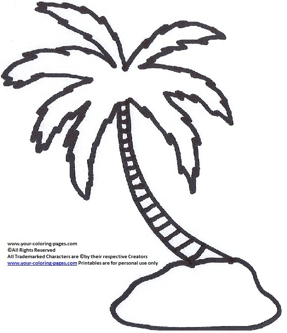 palm tree coloring pages tree coloring pages nature coloring pages - Palm Tree Coloring Pages Print