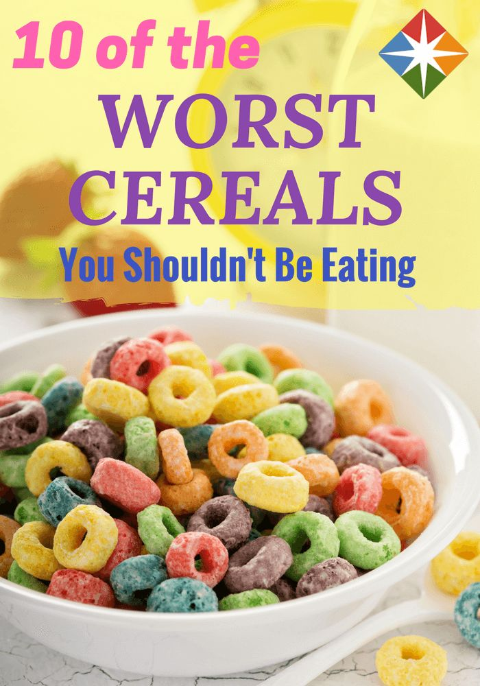 Start the day on a healthy note, not with a sugar rush! Don't let these unhealthy cereals cancel out your exercise. (Hint: Froot Loops don't exactly live up to their name.)