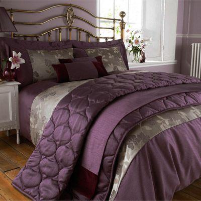 Francesca Faux Silk Bed Runner, Plum/Burgundy