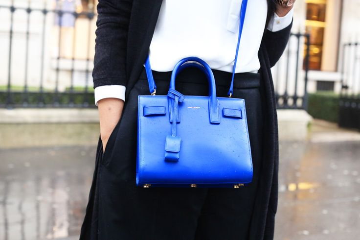 ysl sac de jour in royal blue! Love! |saint laurent | Bags Galore ...