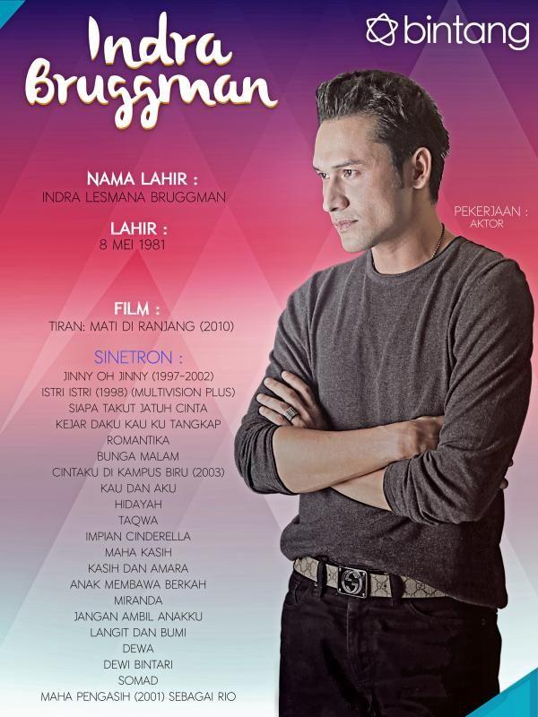 Berkarir sejak tahun 1990an, tentunya nama Indra L Bruggman sudah tak asing lagi di telinga kita. Berbekal wajah tampan dan kemampuan akting menawan, pria yang mengawali karir lewat sinetron Jinny oh Jinny ini menjelma jadi salah satu bintang ternama dan paling banyak dicari. Bagaimana lengkapnya perjalanan seorang Indra L Bruggman?  #IndraLBruggman #Selebritis #CelebBio #Bintang #Indonesia