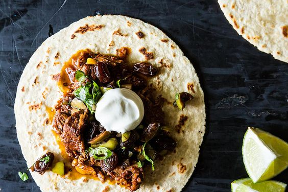 ++ Chipotle Braised Lamb Tacos with Balsamic-Soaked Raisins