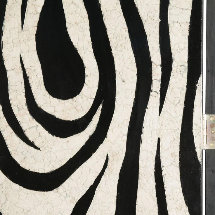 Eggshell and Lacquer Zebra Pattern Four-Panel Folding Screen | From a unique collection of antique and modern home accents at https://www.1stdibs.com/furniture/more-furniture-collectibles/home-accents/