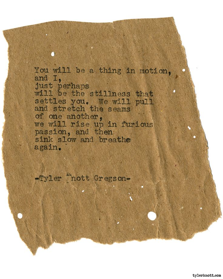 Typewriter Series #1925 by Tyler Knott Gregson Check out my Chasers of the Light Shop! chasersofthelight.com/shop