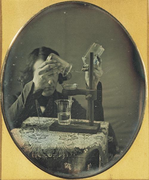 ca. 1843, [Self-portrait of Robert Cornelius with laboratory instruments], Robert Cornelius. George Eastman Archive.