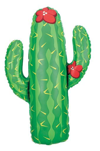 Cactus Balloon  Our Large Cactus Balloon is perfect for a Fiesta, Cactus Themed Party, Cactus Baby Shower or Bridal Shower, or a Southwestern Themed Party.  Make sure to check out our Cactus Plates, Cups, and Napkins