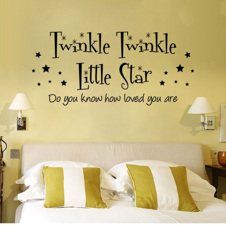 Find More Wall Stickers Information About English Letter Wall Stickers  Twinkle Little Star Living Room Bedroom Part 75