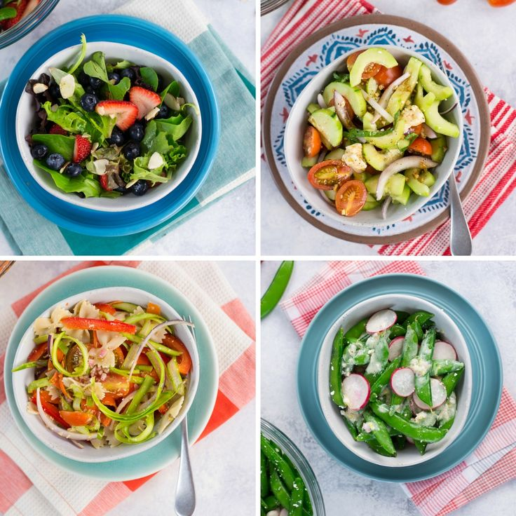 Take your fresh salads to the next level by adding a zesty dressing, as well as seasonal fruits and veggies.