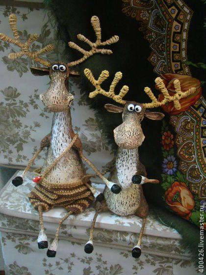 Лосики с чудинкой)) - коричневый,лось,животные,юмор,позитивный подарок