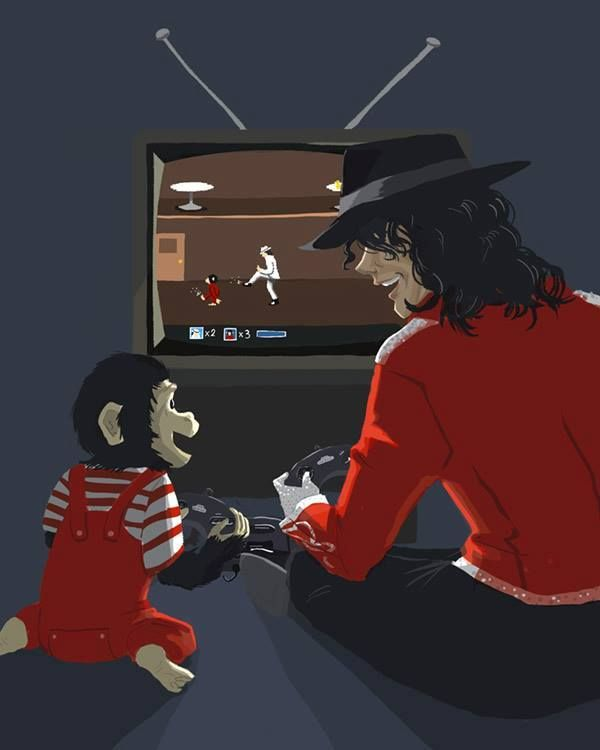 OMJ BUBBLES AND MIKEY ARE PLAYING THE MOONWALKER GAME!!!! >u>