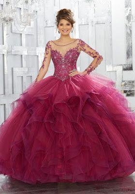 93d1dc93f Vestidos de XV Color Vino