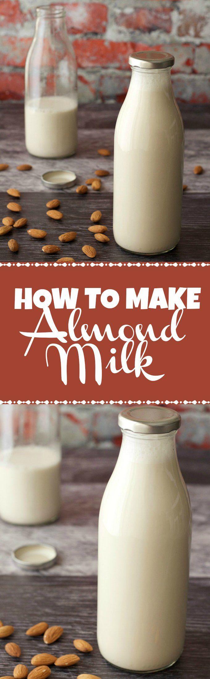 How To Make Almond Milk. Vegan and Gluten-Free. Vegan Recipes   Vegan Breakfast   Vegan Food   Gluten-Free Vegan