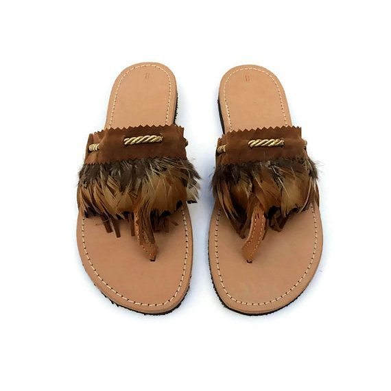 SIKINOS - Handmade Ancient Greek Leather Sandals / Gladiator / Spartan / Women Flat Shoes / Summer Flip Flop