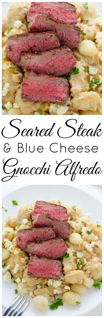 Steak and Blue Cheese Alfredo Gnocchi - the ULTIMATE comfort food meal!