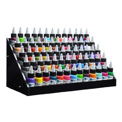 Beauticom Black Acrylic Tattoo Ink Small Display Stand 6-...