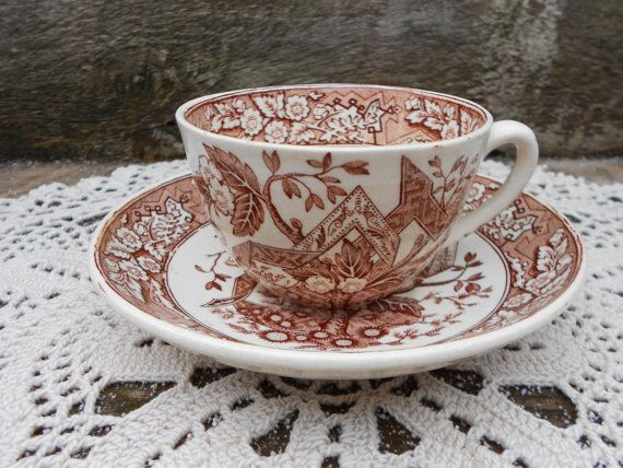 1800's Wedgwood Beatrice Aesthetic Brown by CottonCreekCottage, $32.00