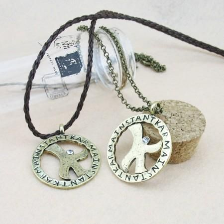 Dream High K Necklace (Leather Cord/Metal Chain) RM 30