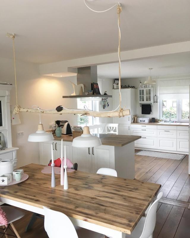 Esszimmer und Küche #kitchen #küche#scandistyle #s…