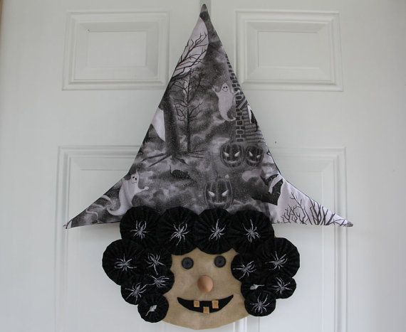 Brunhilda Witch Decoration with Yo-Yos by StuffandNonsenseEtc