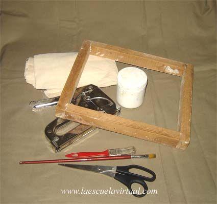 Como montar y preparar un lienzo en bastidor para pintar al oleo, acrilico o temple