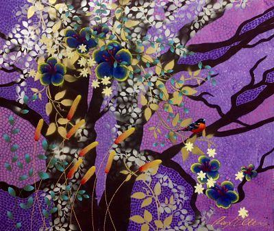 """Purple Hibiscus"" by Cheryl Petersen www.tuskgallery.com.ay"