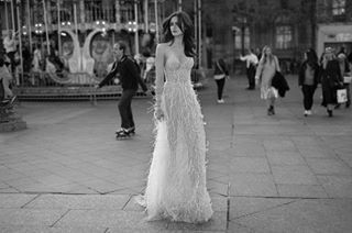 Because what's more flirty than FEATHERS? 💕 #LizMartinez2018 . . . . . . . . . . . . . . . . . . . . . #LizMartinez #fashion #style #bridal #dreamcometrue #dreamy #Dress #feathers #flirty #London #photography #blackandwhite #goals #bridetobe #weddingdress #couture #bw #lovestory #dreamdress #wcw #model @zuzana_gregorova 💜