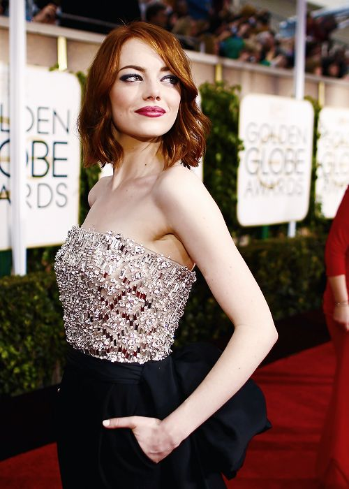 Emma Stone at the 72nd Annual Golden Globe Awards held at the...