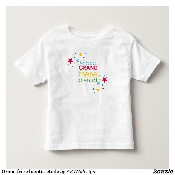T-shirt Pour Les Tous Petits Grand frère bientôt étoile