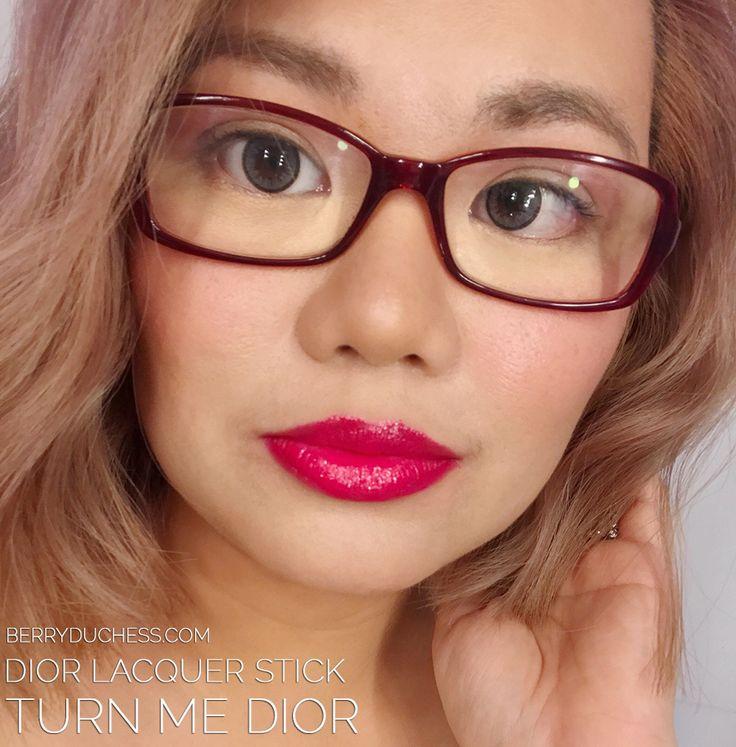 DIOR Lacquer addict - Turn Me Dior Singapore; raspberry red lipstick