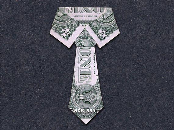 COLLAR & TIE Money Origami - Dollar Bill Art