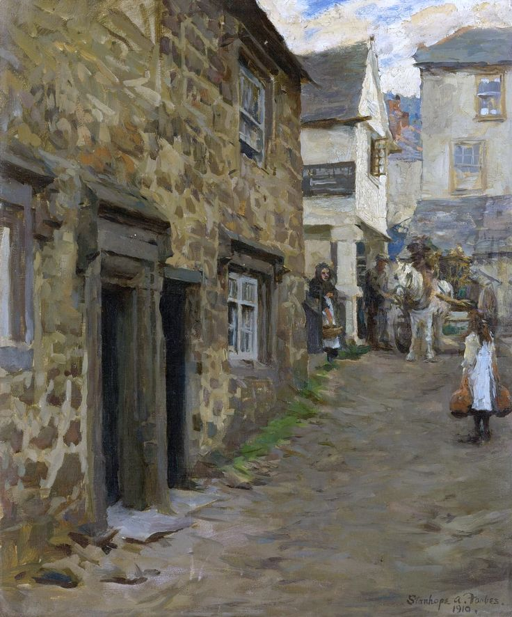 """Stanhope Alexander Forbes, """"The Keigwin Arms, Mousehole"""""""