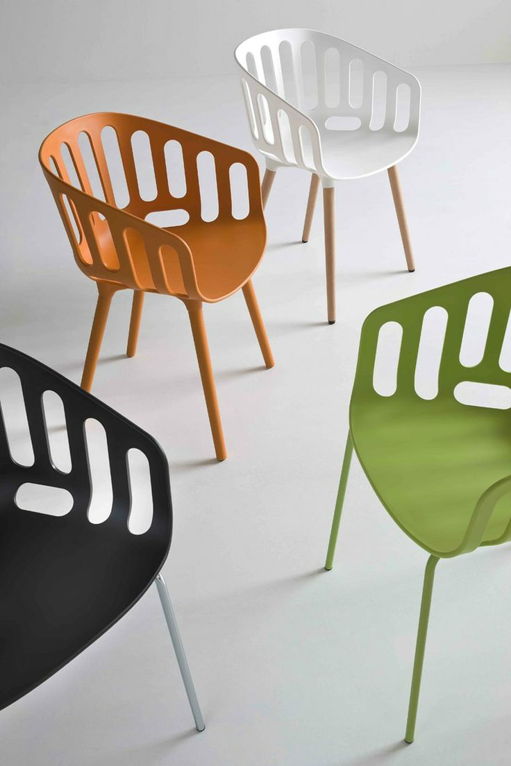 Chair with armrests BASKET CHAIR :: GABER