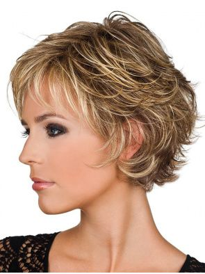 Short Blonde Wavy Real Hair Wigs, Human Hair Wigs Sale, Remy Wig with Bangs