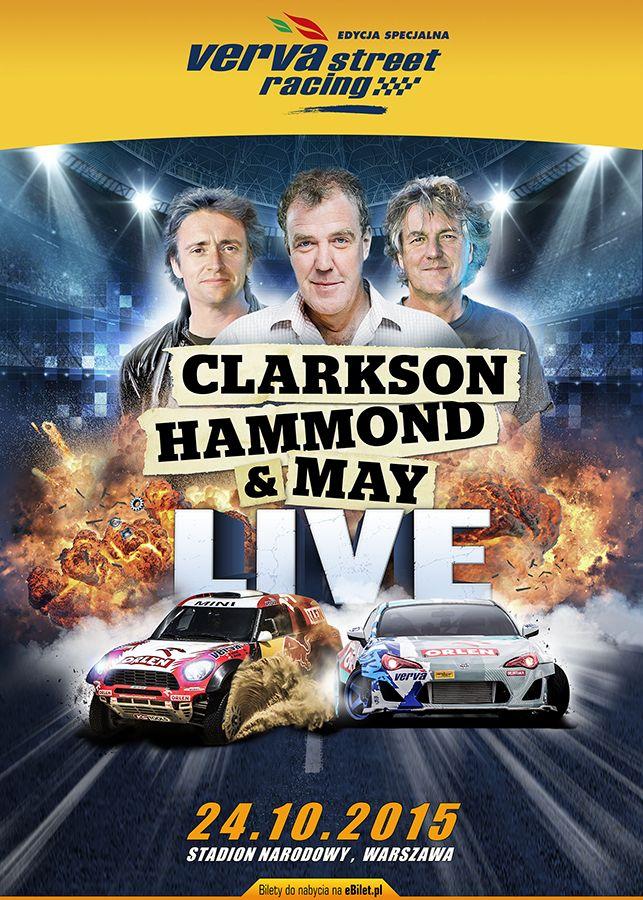 Verva Street Racing, największe motoryzacyjne show w Europie Środkowo-Wschodniej powróci do stolicy 24 października 2015. Zaproszenie do udziału w szóstej edycji wydarzenia ponownie przyjęli legendarni brytyjscy prezenterzy – Jeremy Clarkson, Richard Hammond i James May.  #vervastreetracing