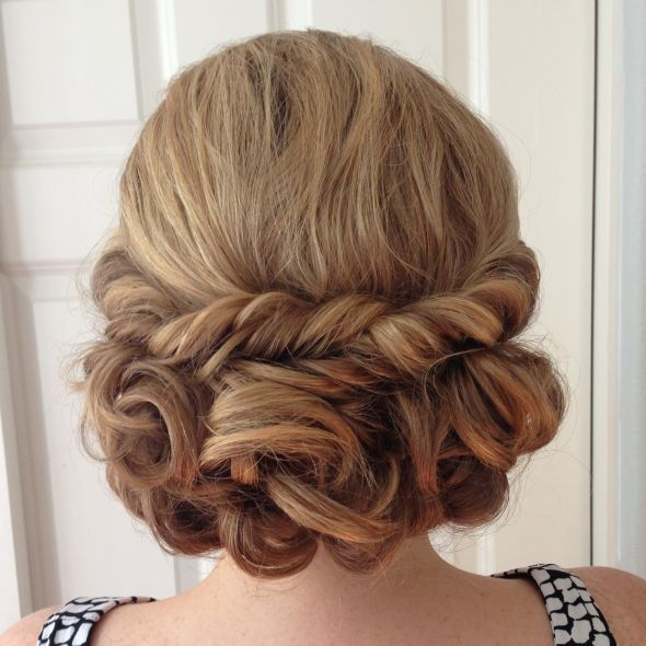 White and Gold Wedding. Bridesmaid Hair. Natural Hair. Ladies, Where are your wedding hair pictures??? - Weddingbee