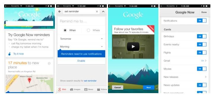 Google Search iOS App Received Major Update for Google Now Features
