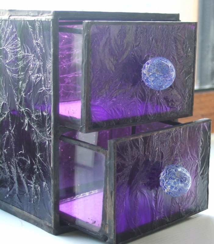 Stained glass chest of drawers!