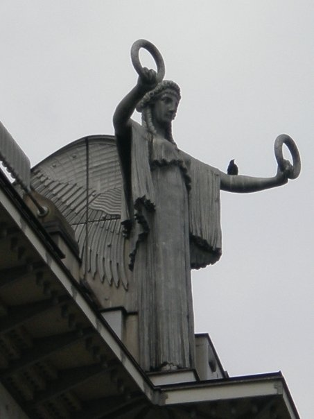 Epic Facade of Otto Wagner us Postal Savings Bank u in Vienna