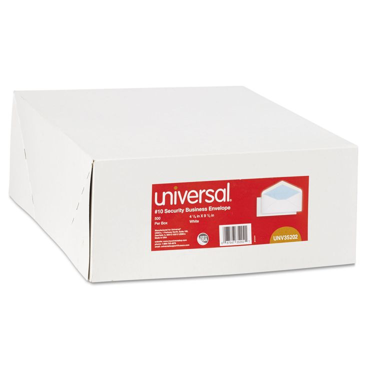 Universal Security Tinted Business Envelope