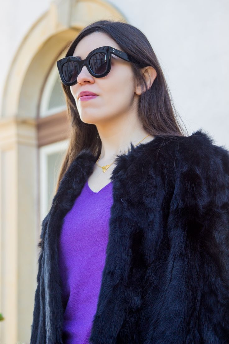 Winter essential: the fur coat -  #black #Boots #Cashmere #celine #coat #DianeVonFurstenberg #Fur #Gold #Leather #MassimoDutti #Minimalism #necklace #Overtheknee #Print #Purple #Sfera #snake #Stradivarius #Sunglasses #Sweater #Trend #white