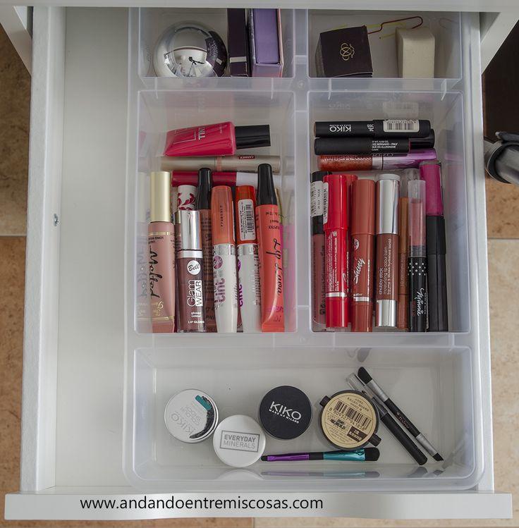 Del Cajón De Maquillaje en Pinterest  Organización del cajón de