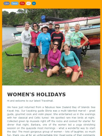 Check out our latest newsletter for details of all our trips for 2016