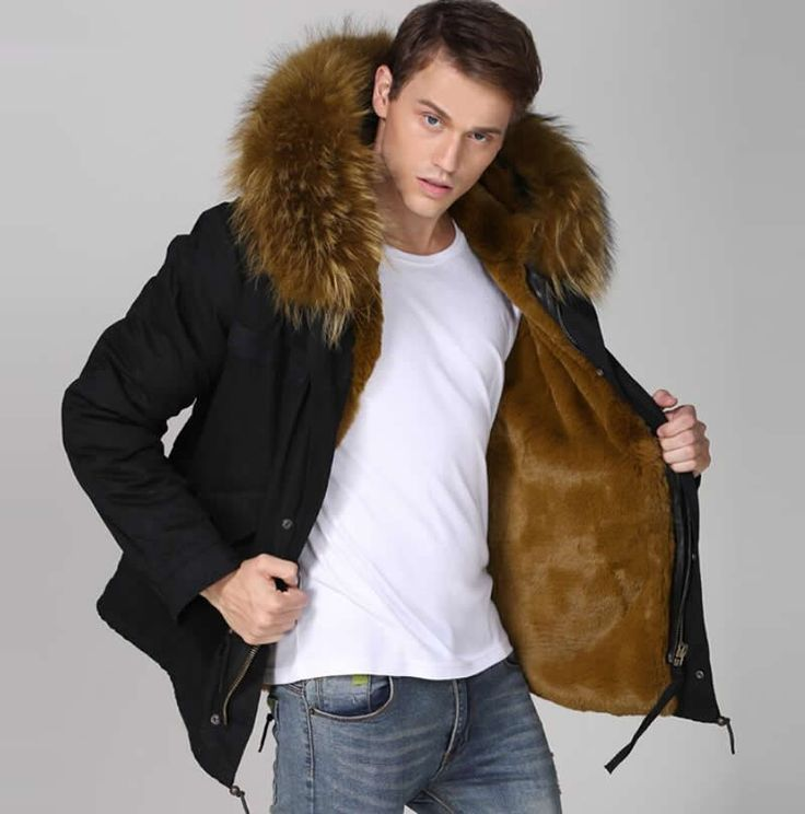 Best 25  Mens fur hood coat ideas on Pinterest | Men's fur & faux ...