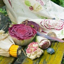 Landleven - Zelfmaakidee: stempelen met groente